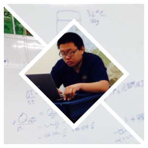 His next period is AP physics. Master of physics Chi is undaunted by the equations.